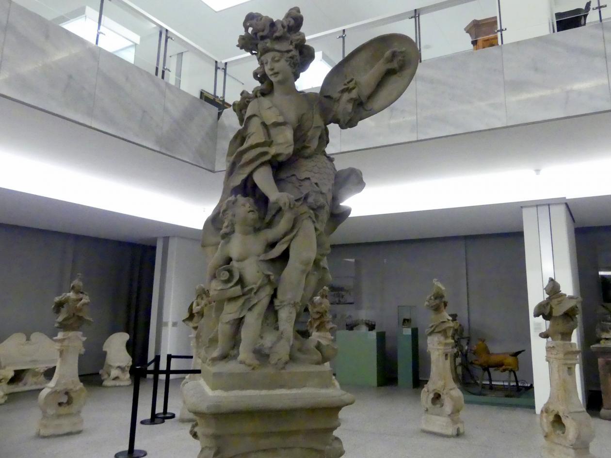 Ferdinand Tietz (Ferdinand Dietz): Minerva als Schutzgöttin der Künste, um 1747 - 1753