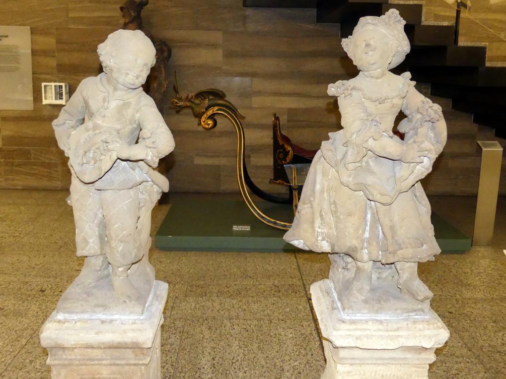 Joseph Bonaventura Mutschele: Knabe und Mädchen, um 1762