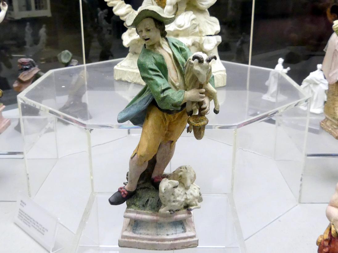 """Ferdinand Tietz (Ferdinand Dietz): Schäfer mit """"Polnischem Bock"""", um 1761 - 1764"""