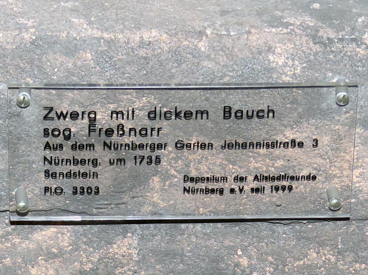 Georg Christoph Sommer (Werkstatt): Zwerg mit dickem Bauch (Fressnarr), um 1735, Bild 2/3