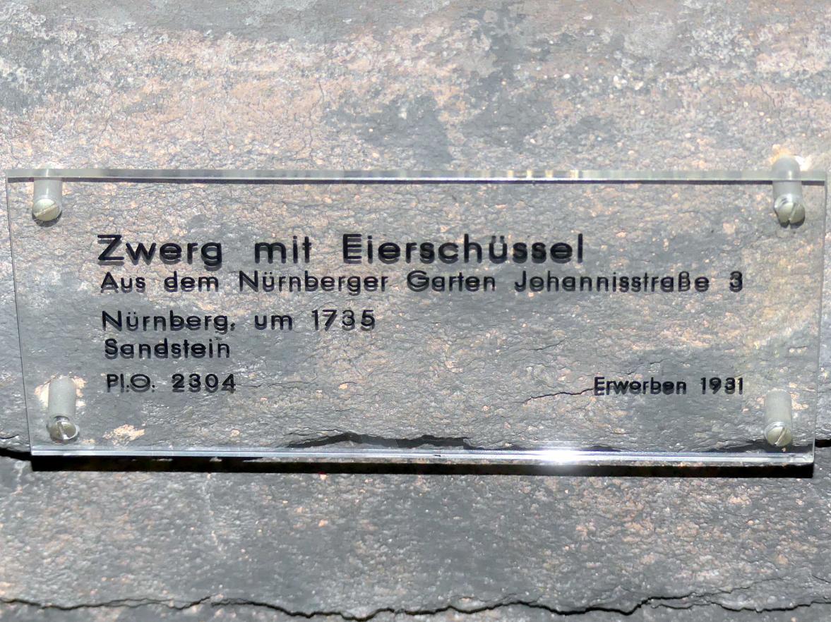 Georg Christoph Sommer (Werkstatt): Zwerg mit Eierschüssel, Um 1735