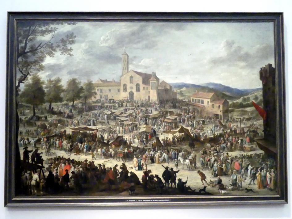 David Teniers der Jüngere: Der Jahrmarkt vor der Kirche S. Maria dell' Impruneta bei Florenz (nach Callot), Um 1645 - 1650