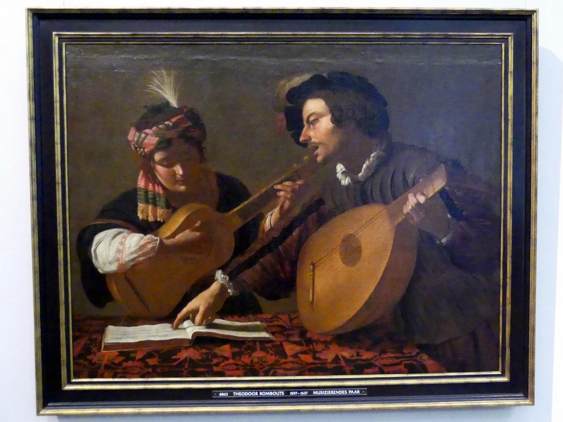 Theodoor Rombouts: Musizierendes Paar, Undatiert