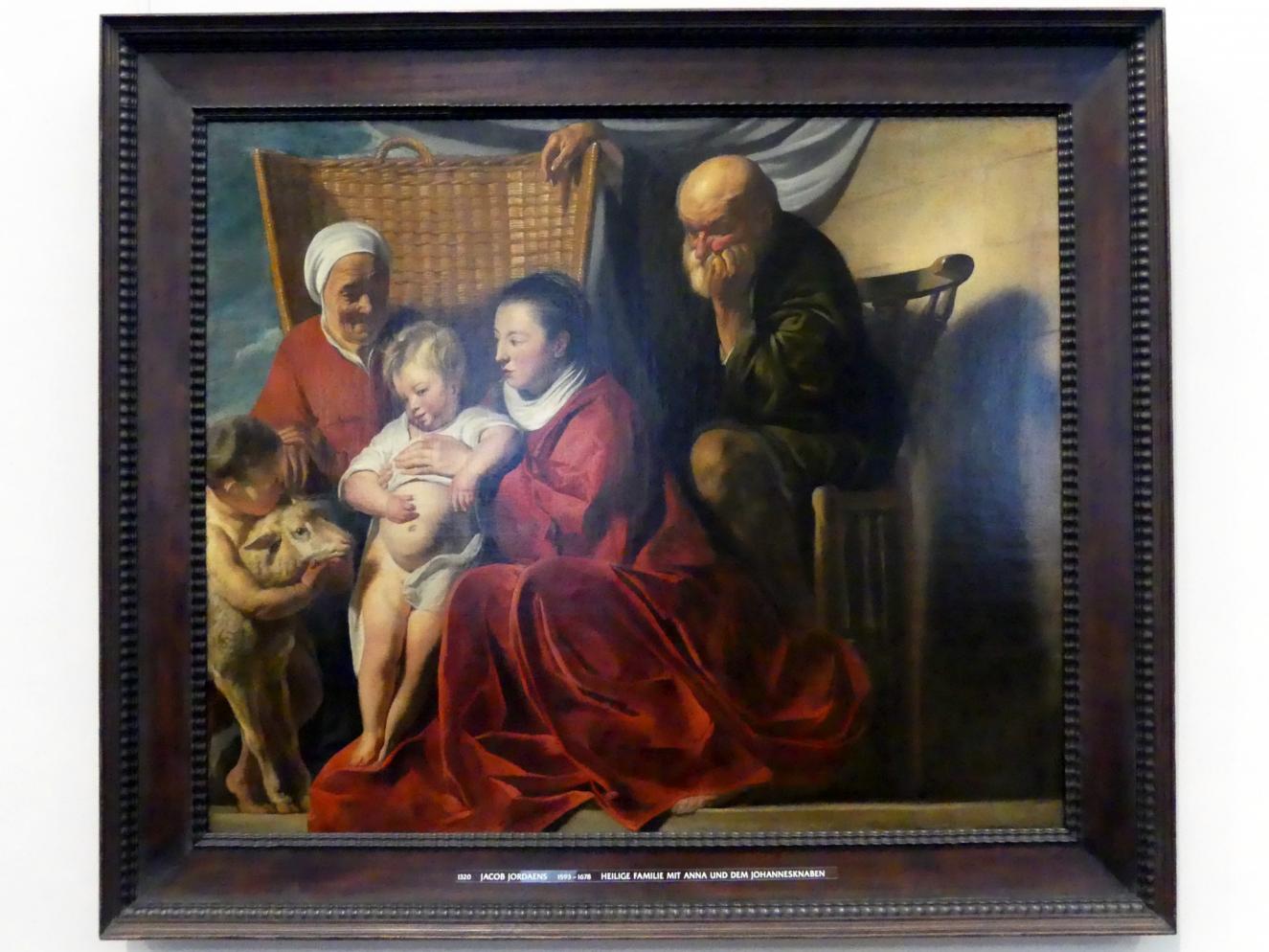 Jacob Jordaens: Heilige Familie mit Anna und dem Johannesknaben, um 1620 - 1625