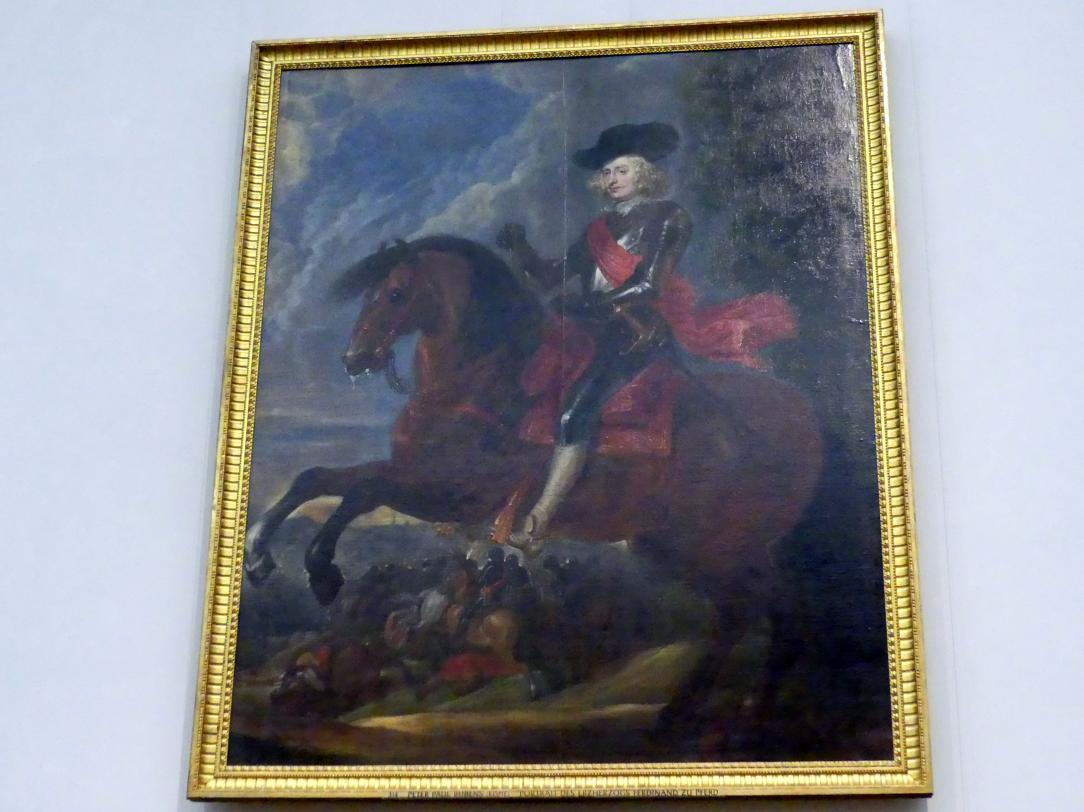 "Peter Paul Rubens (Kopie): Portrait des ""Erzherzogs"" Ferdinand zu Pferd, Undatiert"