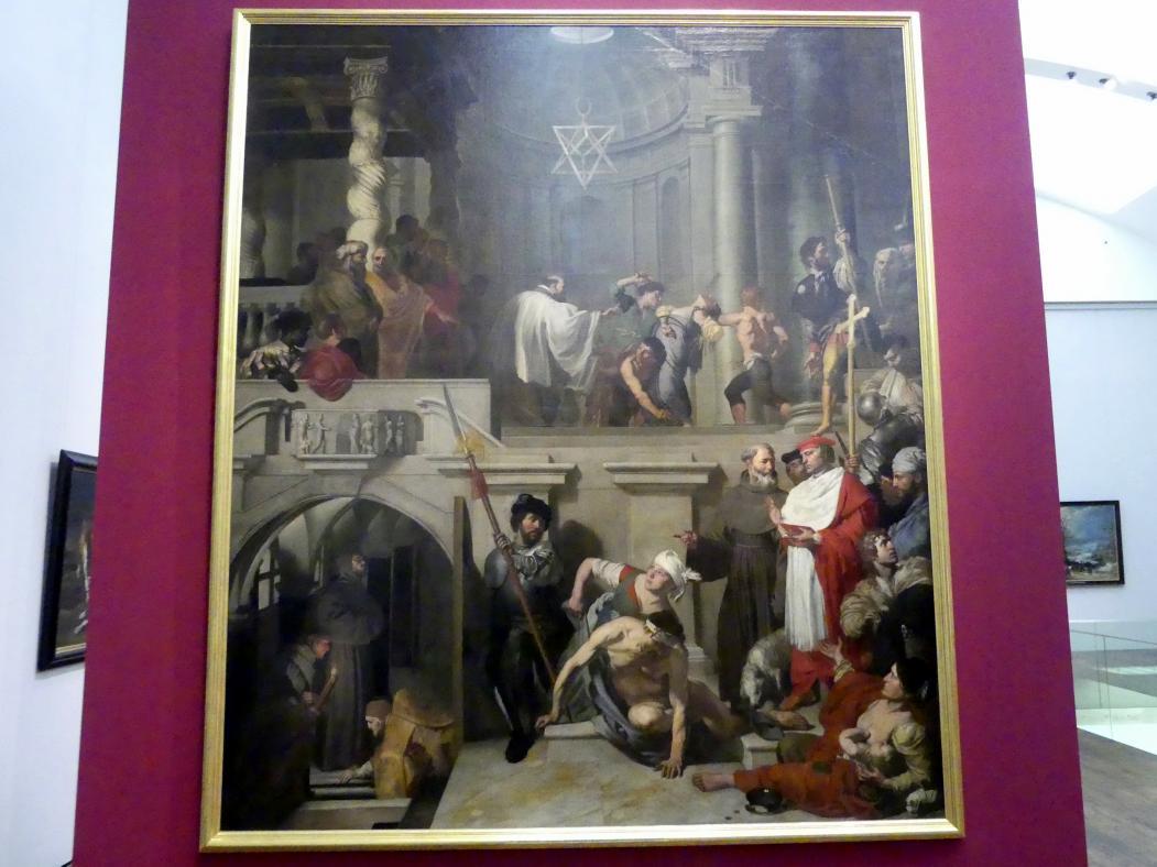 Gerard Douffet: Papst Nikolaus V. besucht die Grabstätte des Hl. Franz von Assisi, 1627