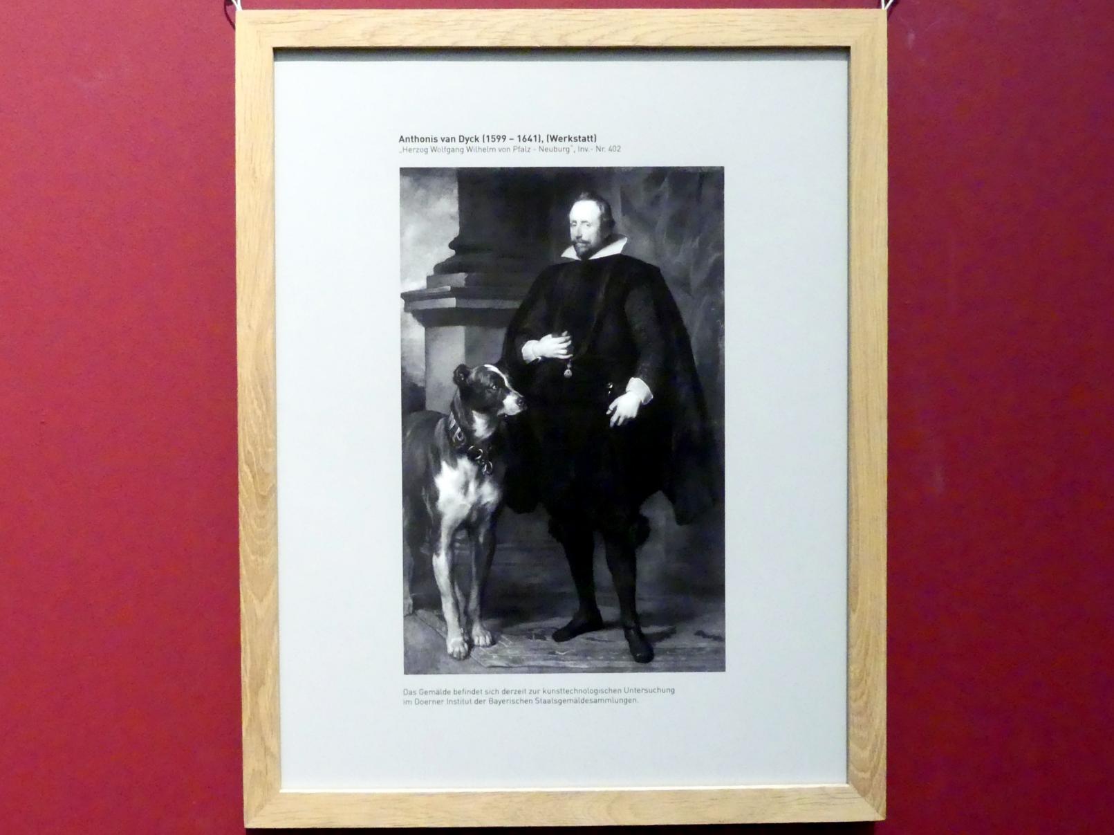 Anthonis (Anton) van Dyck (Werkstatt): Herzog Wolfgang Wilhelm von Pfalz-Neuburg, Undatiert