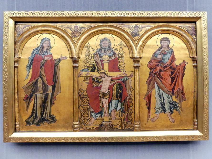 Altarretabel in drei Abteilungen mit dem Gnadenstuhl, Nach 1250