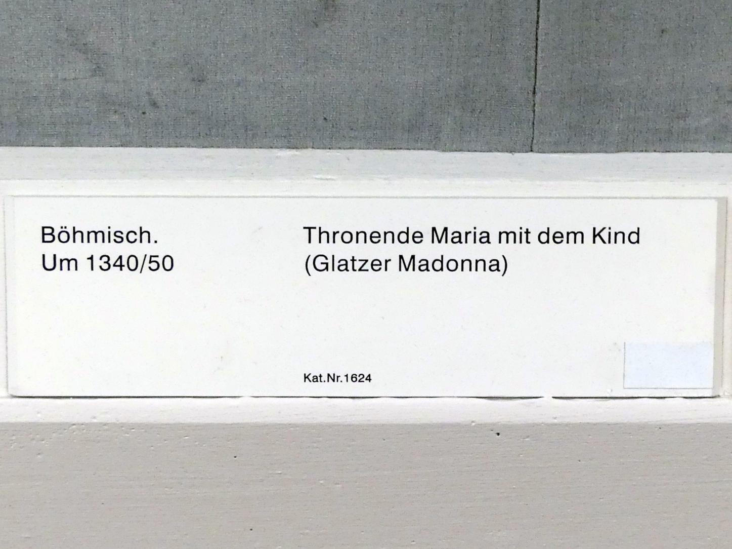 Meister von Hohenfurth: Thronende Maria mit Kind (Glatzer Madonna), um 1340 - 1350, Bild 2/2