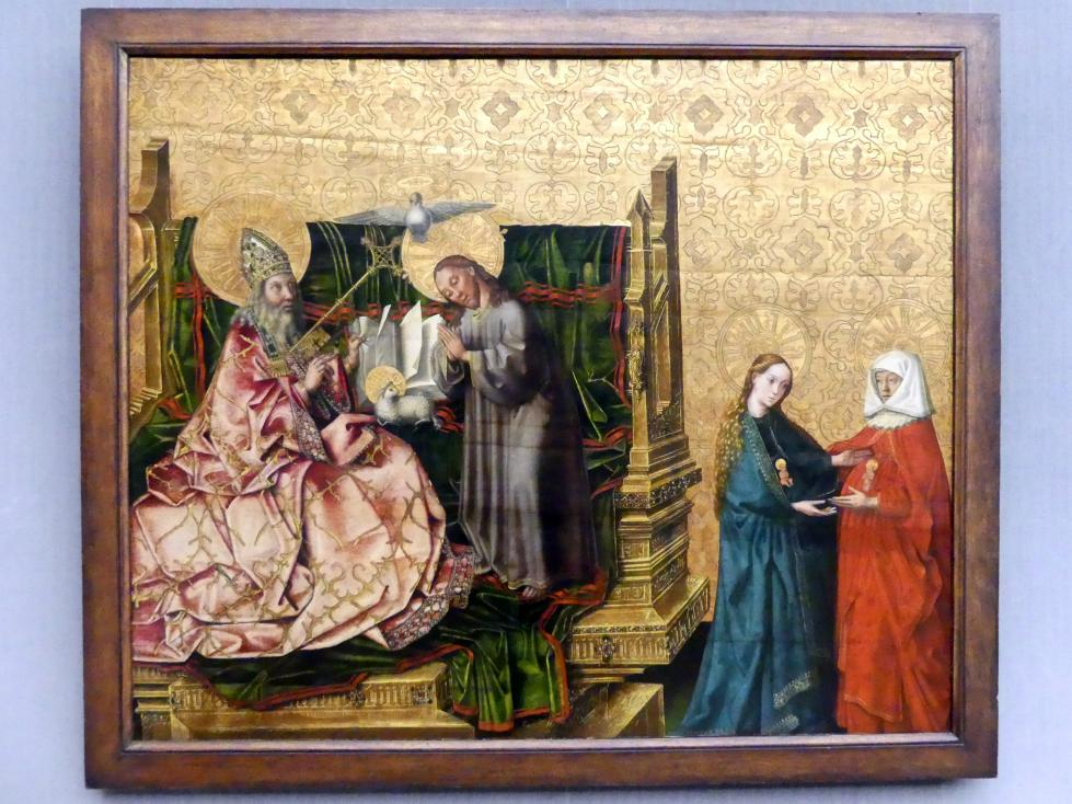 Konrad Witz (Werkstatt): Der Ratschluss der Erlösung und die Heimsuchung Mariens, Nach 1444