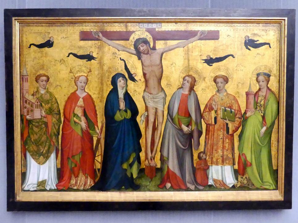 Christus am Kreuz mit Heiligen, Um 1430