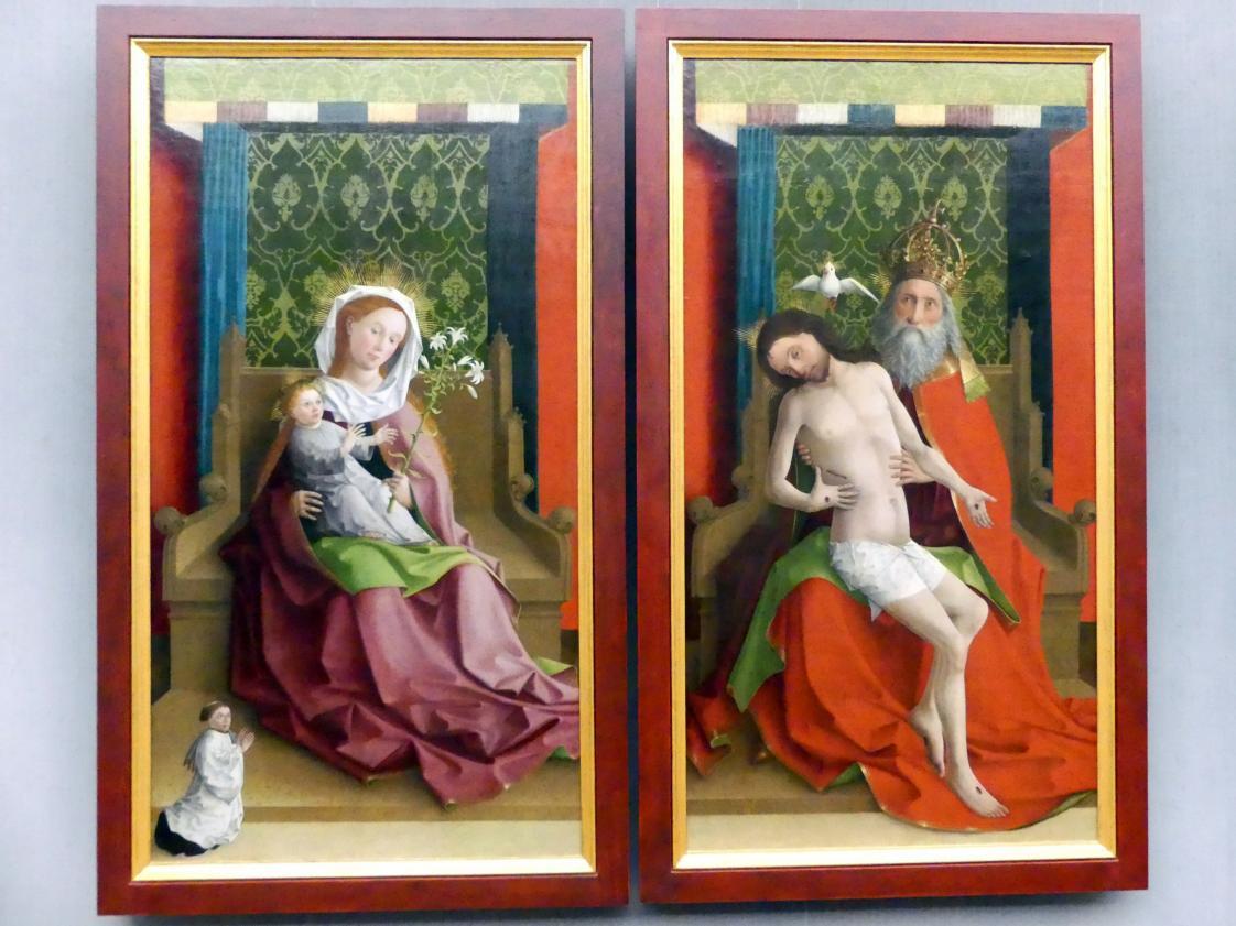 Meister der Darmstädter Passion: Außenseiten der Flügel eines Kreuzaltares, um 1440 - 1460