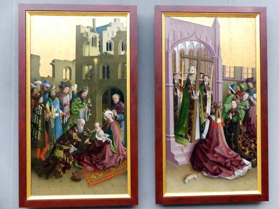 Meister der Darmstädter Passion: Innenseiten der Flügel eines Kreuzaltares, Um 1440 - 1460