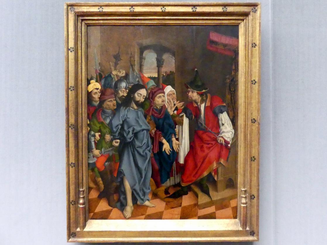 Meister LCz (Meister des Strache-Altars): Christus vor Pilatus, um 1480 - 1510