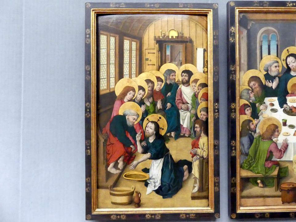 Meister des Hausbuchs: Die Fußwaschung der Apostel, um 1475 - 1480