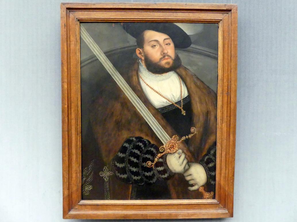 Lucas Cranach der Ältere: Johann Friedrich I., der Großmütige, Kurfürst von Sachsen (1503-1554), Undatiert