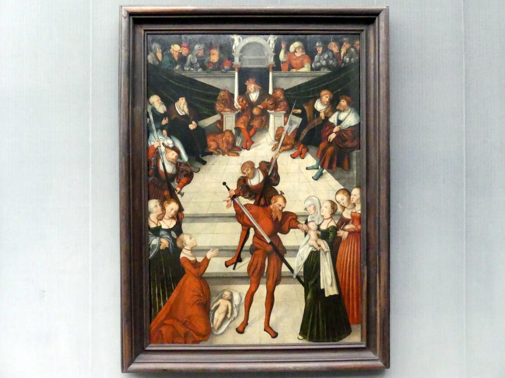 Lucas Cranach der Ältere (Werkstatt): Das Urteil Salomonis, um 1537