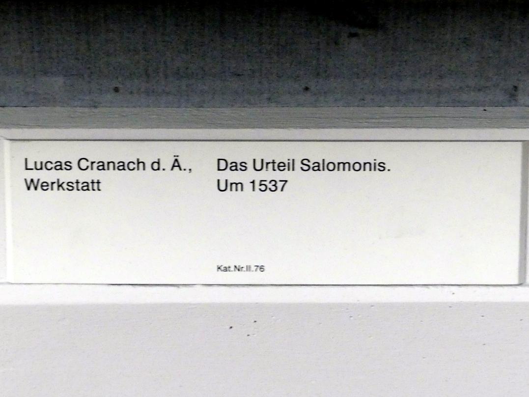 Lucas Cranach der Ältere (Werkstatt): Das Urteil Salomonis, um 1537, Bild 2/2