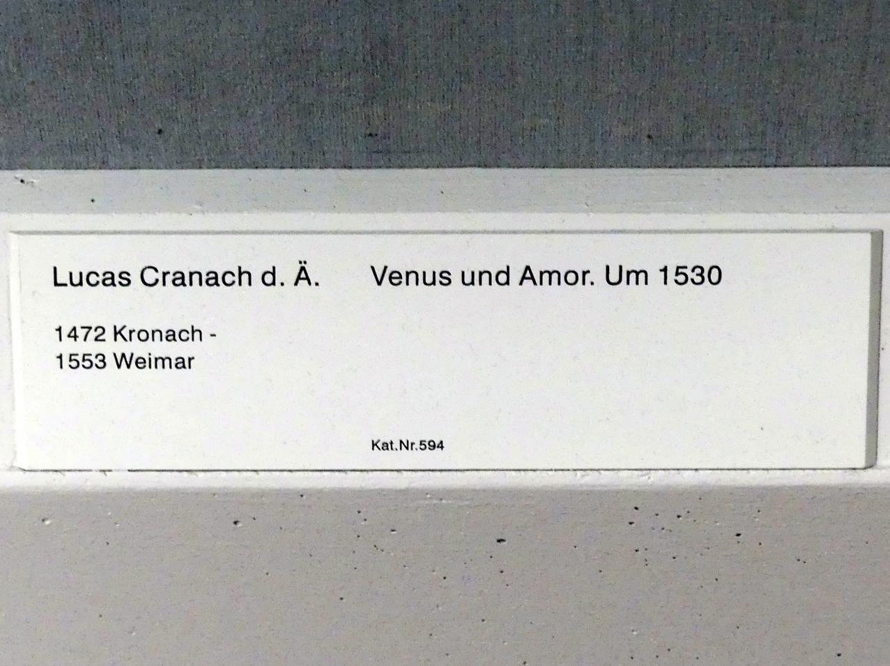 Lucas Cranach der Ältere: Venus und Amor, um 1530, Bild 2/2