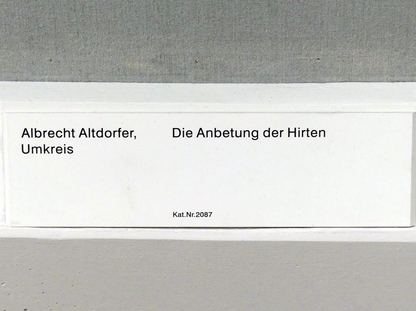 Albrecht Altdorfer (Umkreis): Die Anbetung der Hirten, Undatiert, Bild 2/2