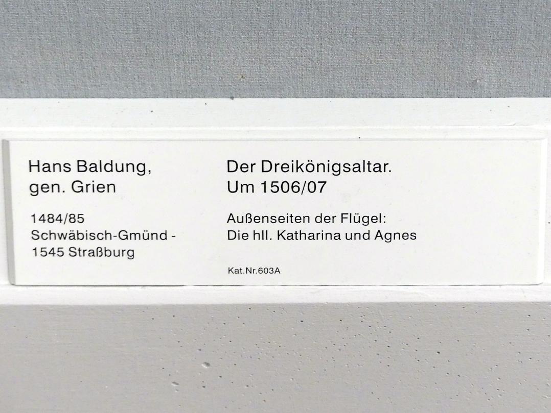 Hans Baldung Grien: Der Dreikönigsaltar: Außenseiten der Flügel, um 1506 - 1507, Bild 2/2