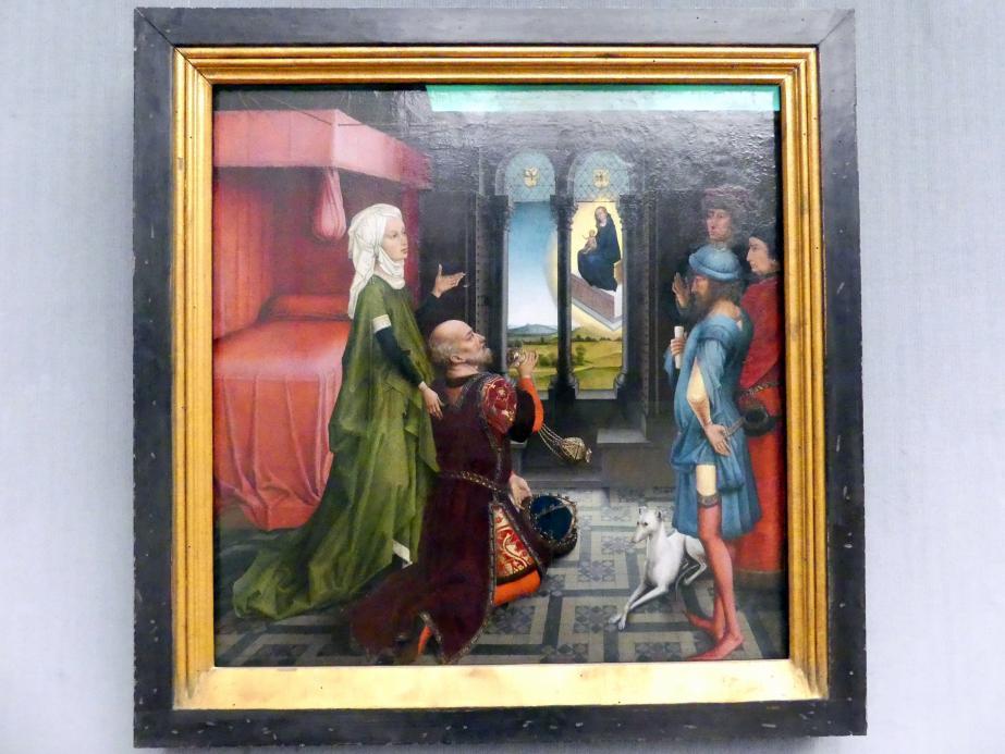 Rogier van der Weyden (Werkstatt): Kaiser Augustus und die Tiburtinische Sibylle, um 1460