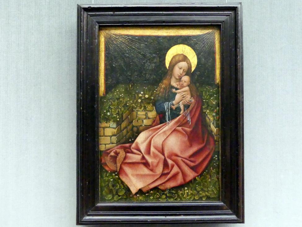 Meister von Flémalle: Die Madonna vor der Rasenbank, um 1425 - 1430