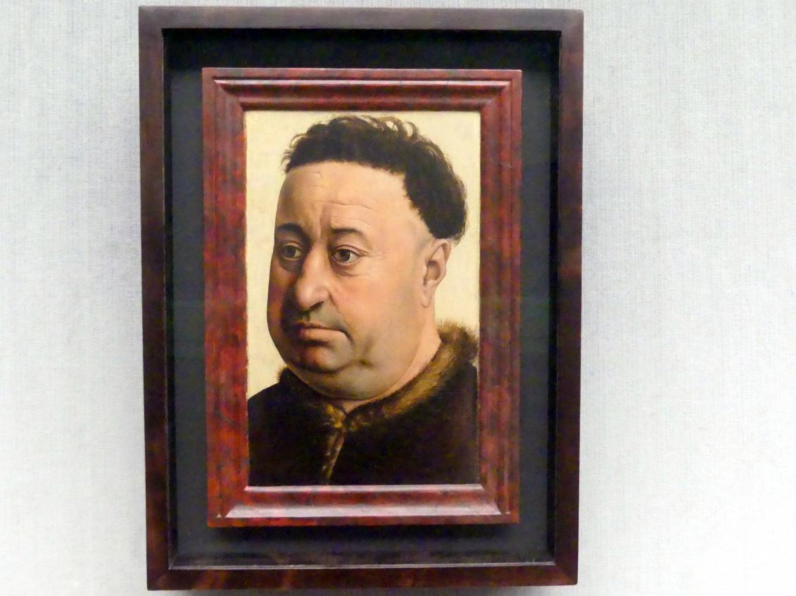 Meister von Flémalle: Bildnis eines feisten Mannes, um 1430 - 1440