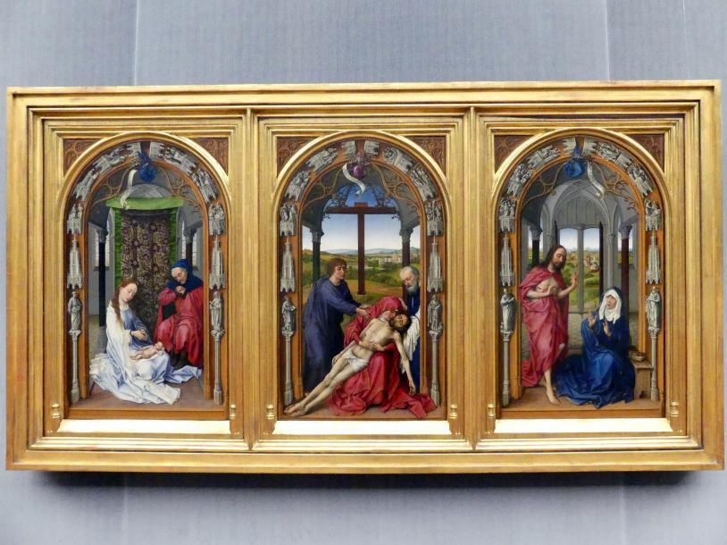 Rogier van der Weyden: Marienaltar (Miraflores-Altar), Vor 1445