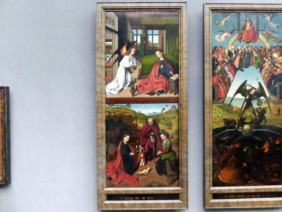 Petrus Christus: Die Verkündigung an Maria und die Geburt Christi., 1452