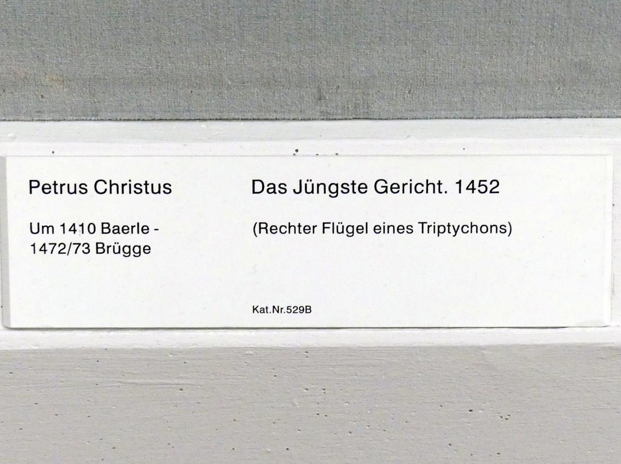 Petrus Christus: Das Jüngste Gericht., 1452
