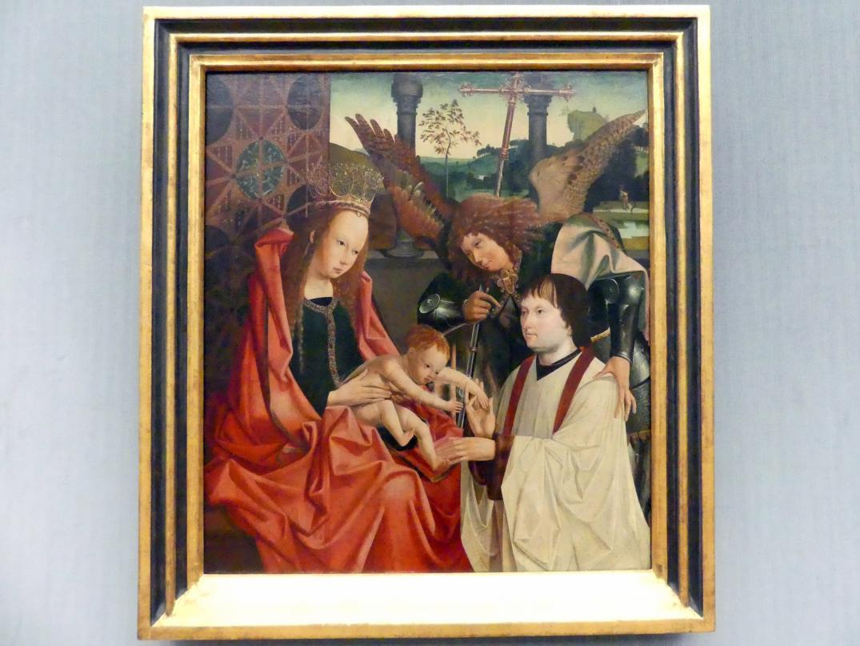 Meister des Antwerpener Marien-Tryptichons: Maria mit dem Kind, dem Erzengel Michael und einem Stifter, Undatiert