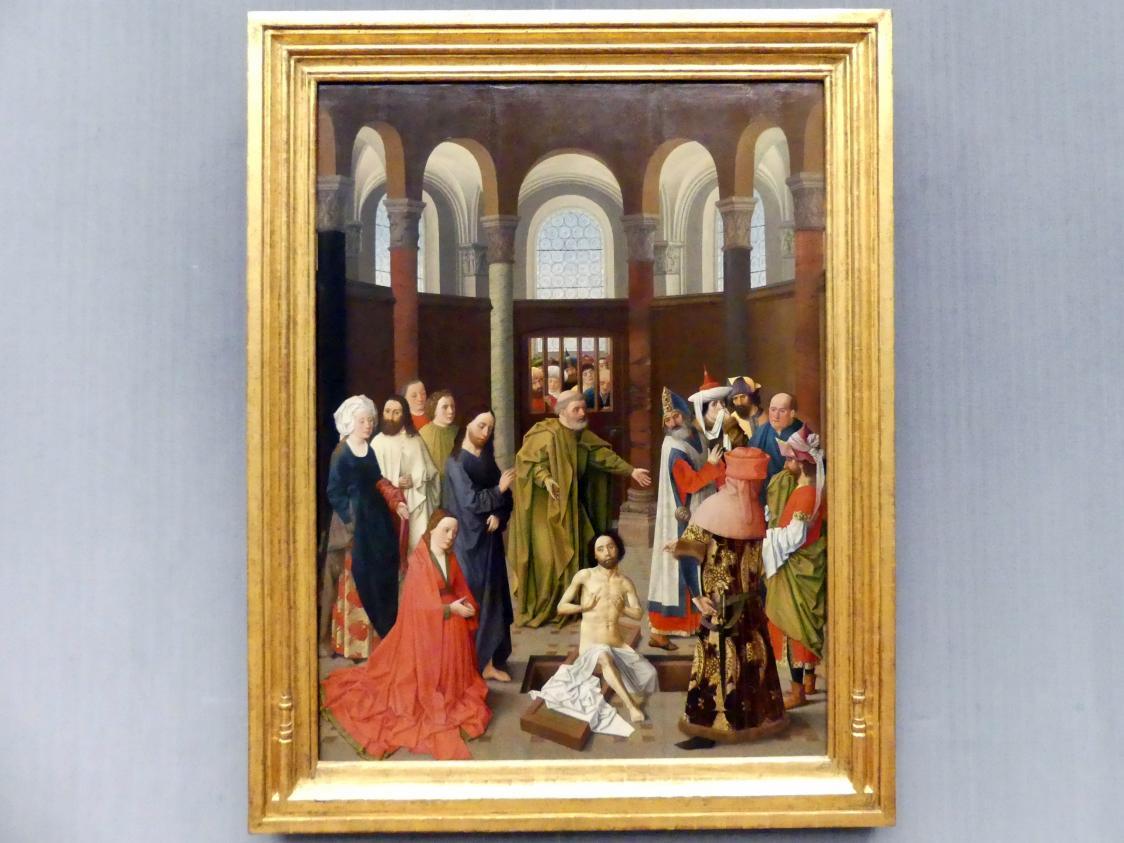 Aelbert van Ouwater: Die Auferweckung des Lazarus, um 1450 - 1460