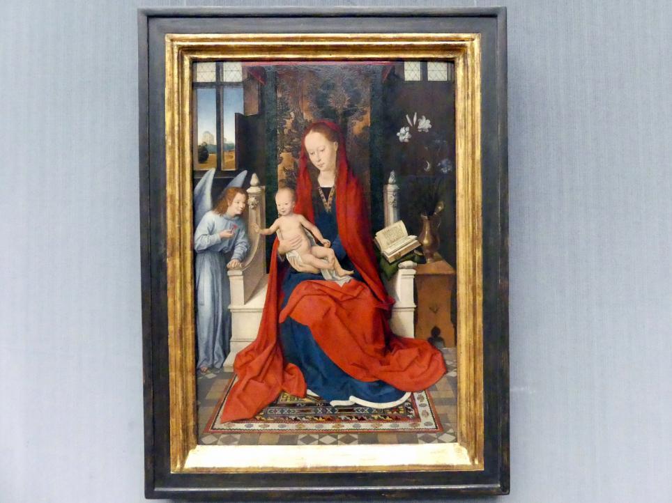 Hans Memling: Thronende Maria mit dem Kind, um 1485