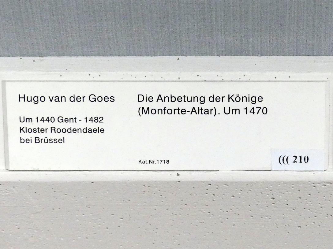 Hugo van der Goes: Die Anbetung der Könige (Montforte-Altar), um 1470, Bild 2/2