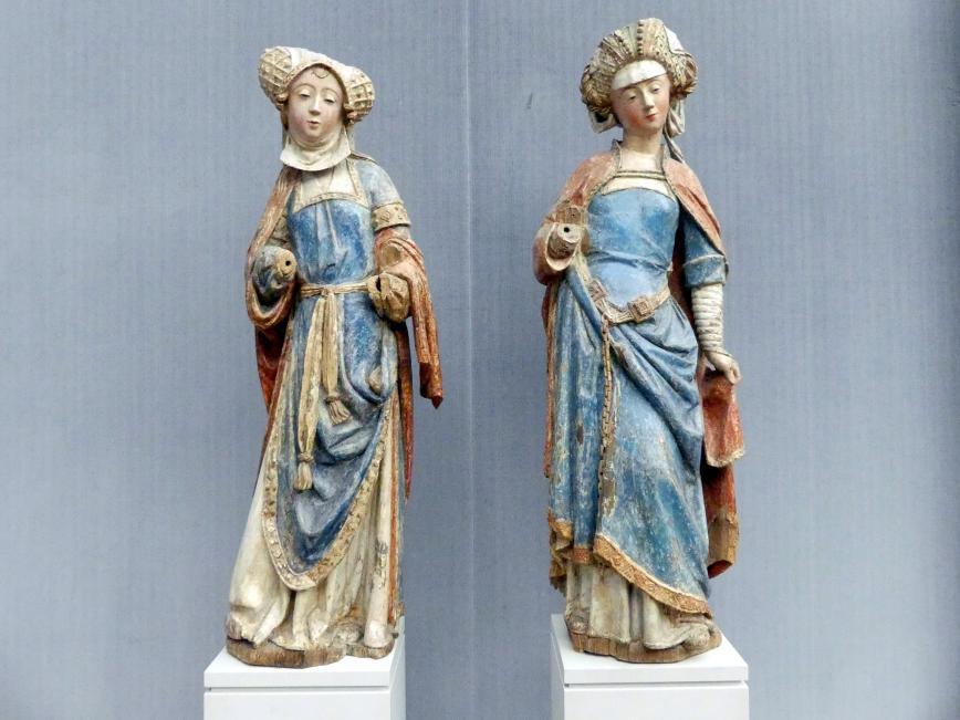 Zwei Frauen aus einer Grablegung Christi, um 1510 - 1515