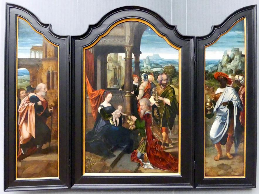 Meister der weiblichen Halbfiguren: Triptychon mit der Anbetung der Könige, Undatiert