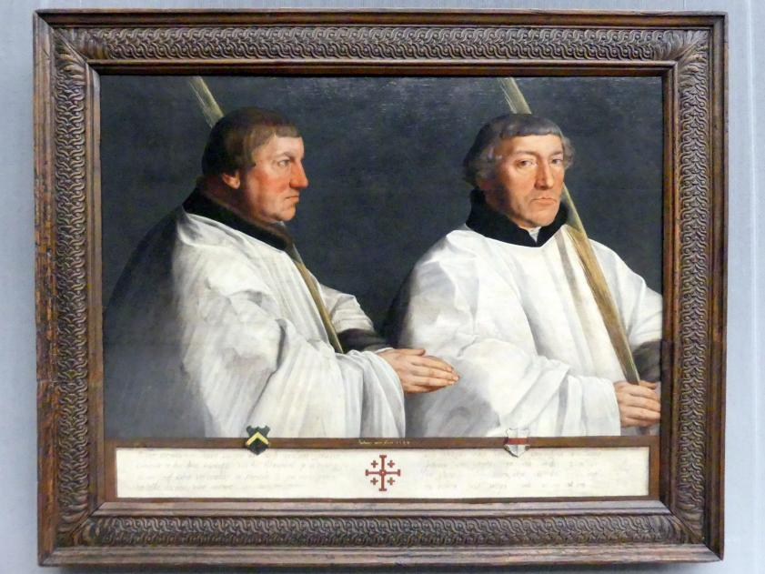 Anthonis Mor: Die Utrechter Domherren Cornelius van Horn und Anthonis Taets van Ameronghen, 1544