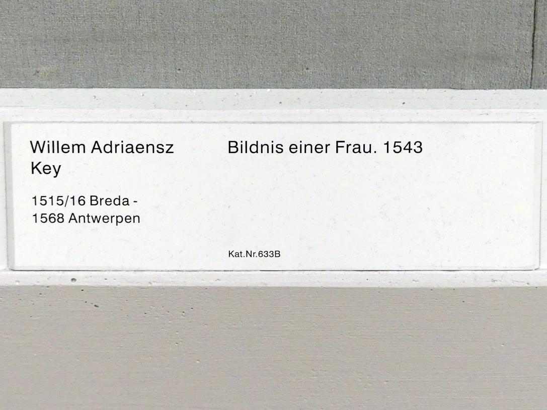 Willem Adriaensz Key: Bildnis einer Frau, 1543