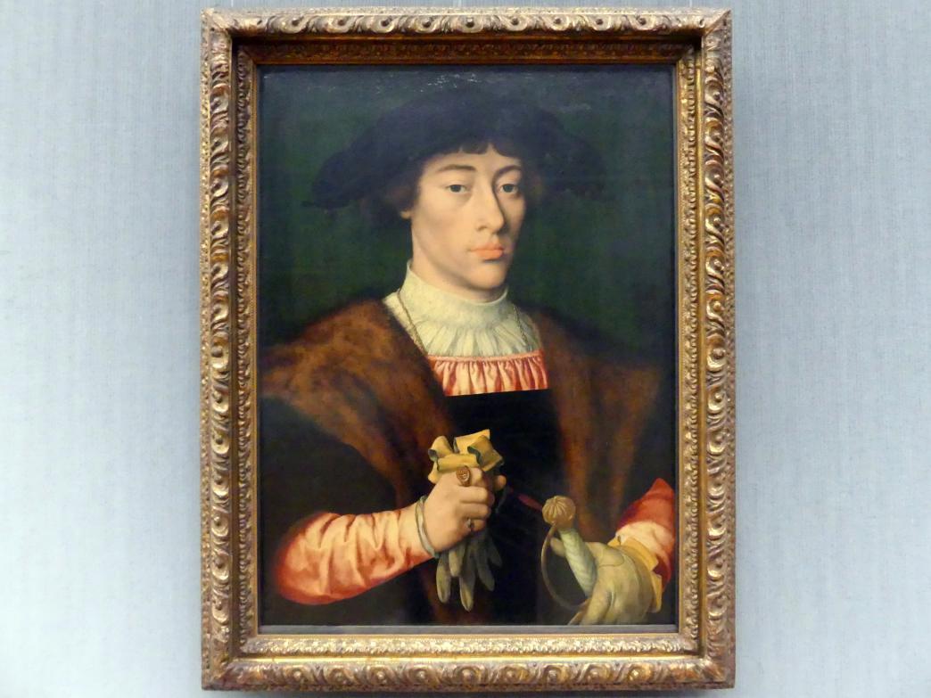 Joos van Cleve (Joos van der Beke): Bildnis eines jungen Mannes, Um 1528