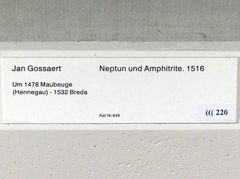 Jan Gossaert (Mabuse): Neptun und Amphitrite, 1516, Bild 2/2