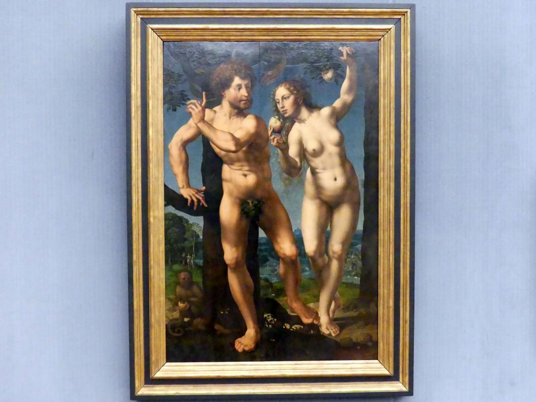 Jan Gossaert, genannt Mabuse: Der Sündenfall (Adam und Eva), um 1525