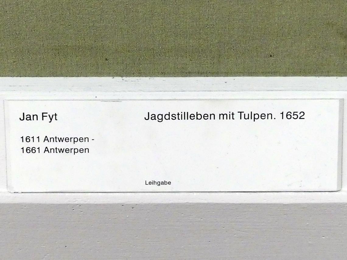 Jan Fyt: Jagdstillleben mit Tulpen, 1652, Bild 2/2