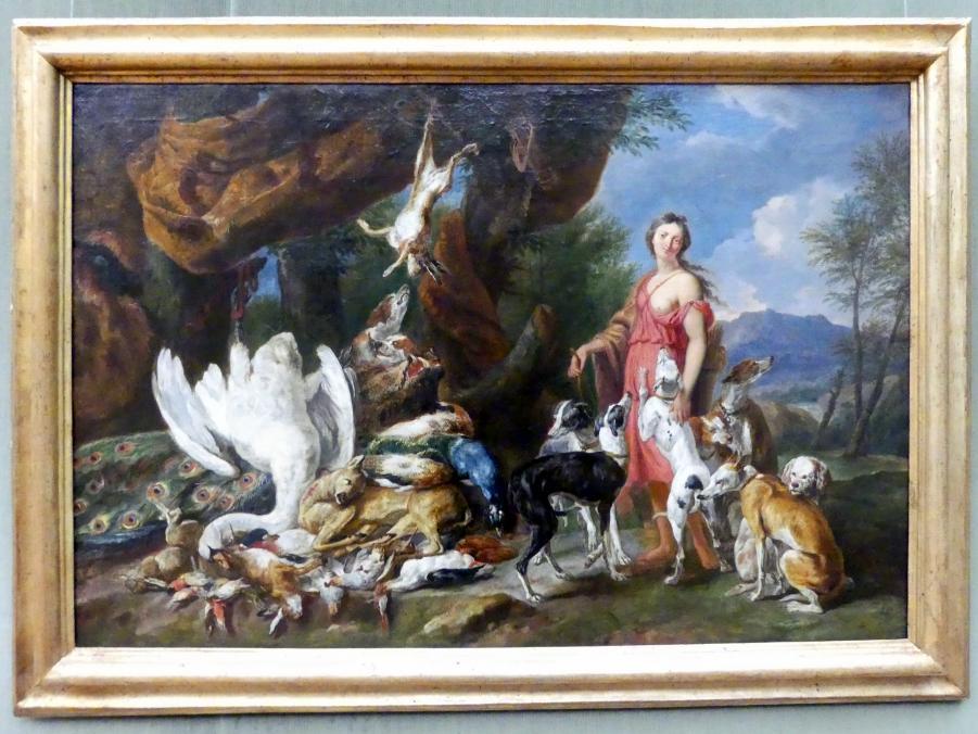 Jan Fyt: Diana mit ihren Jagdhunden neben erlegtem Wild, Undatiert