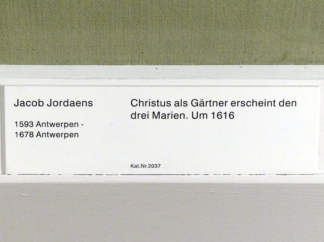 Jacob Jordaens: Christus als Gärtner erscheint den drei Marien, um 1616, Bild 2/2