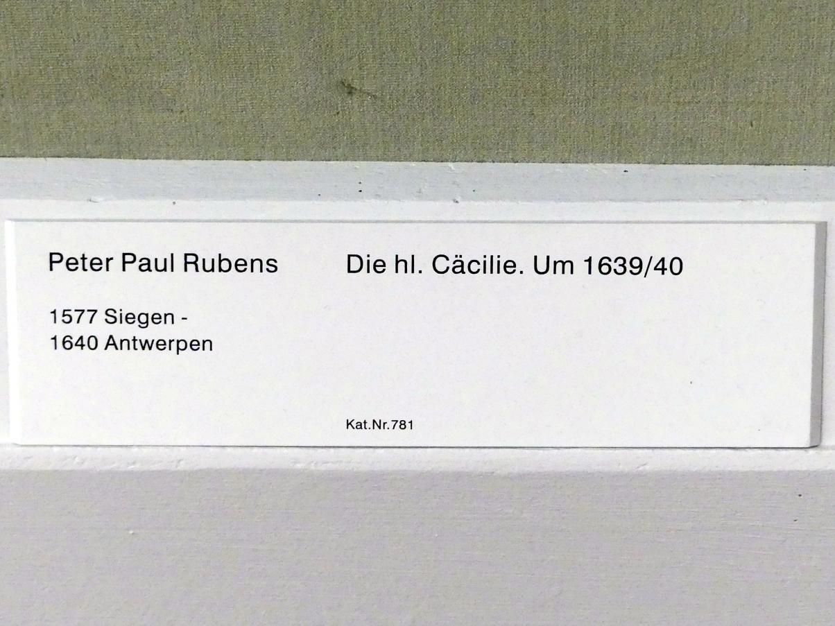 Peter Paul Rubens: Die hl. Cäcilie, um 1639 - 1640, Bild 2/2