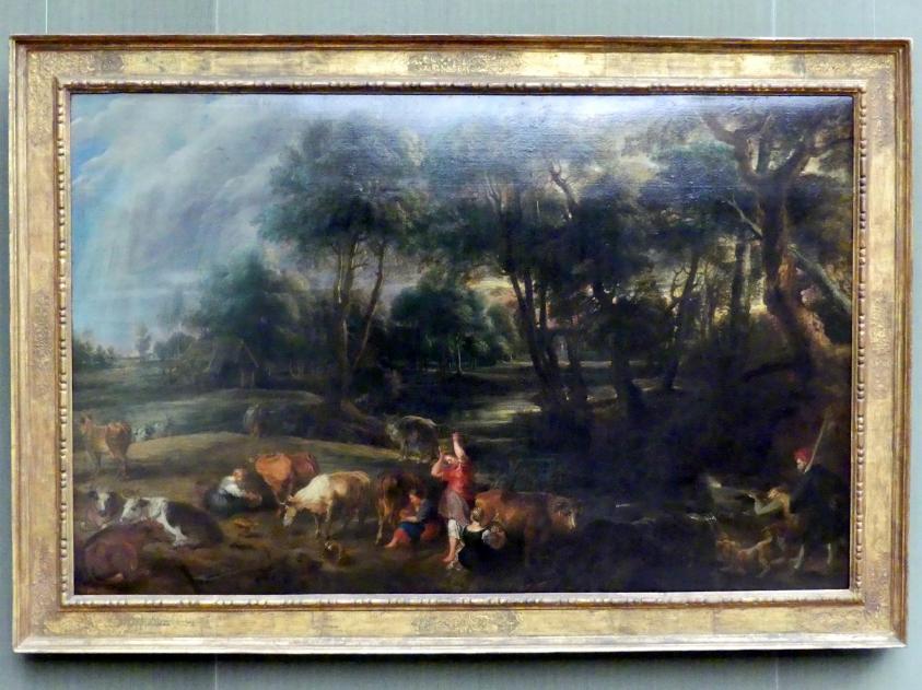 Peter Paul Rubens: Landschaft mit Kühen und Entenjägern, um 1635 - 1638