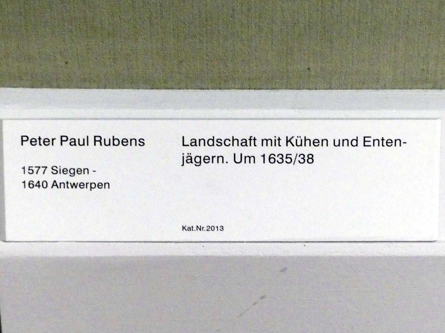 Peter Paul Rubens: Landschaft mit Kühen und Entenjägern, um 1635 - 1638, Bild 2/2