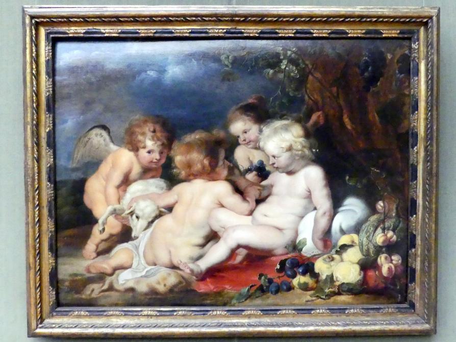 Peter Paul Rubens (Werkstatt): Christus mit dem Johannesknaben und Engeln, Undatiert