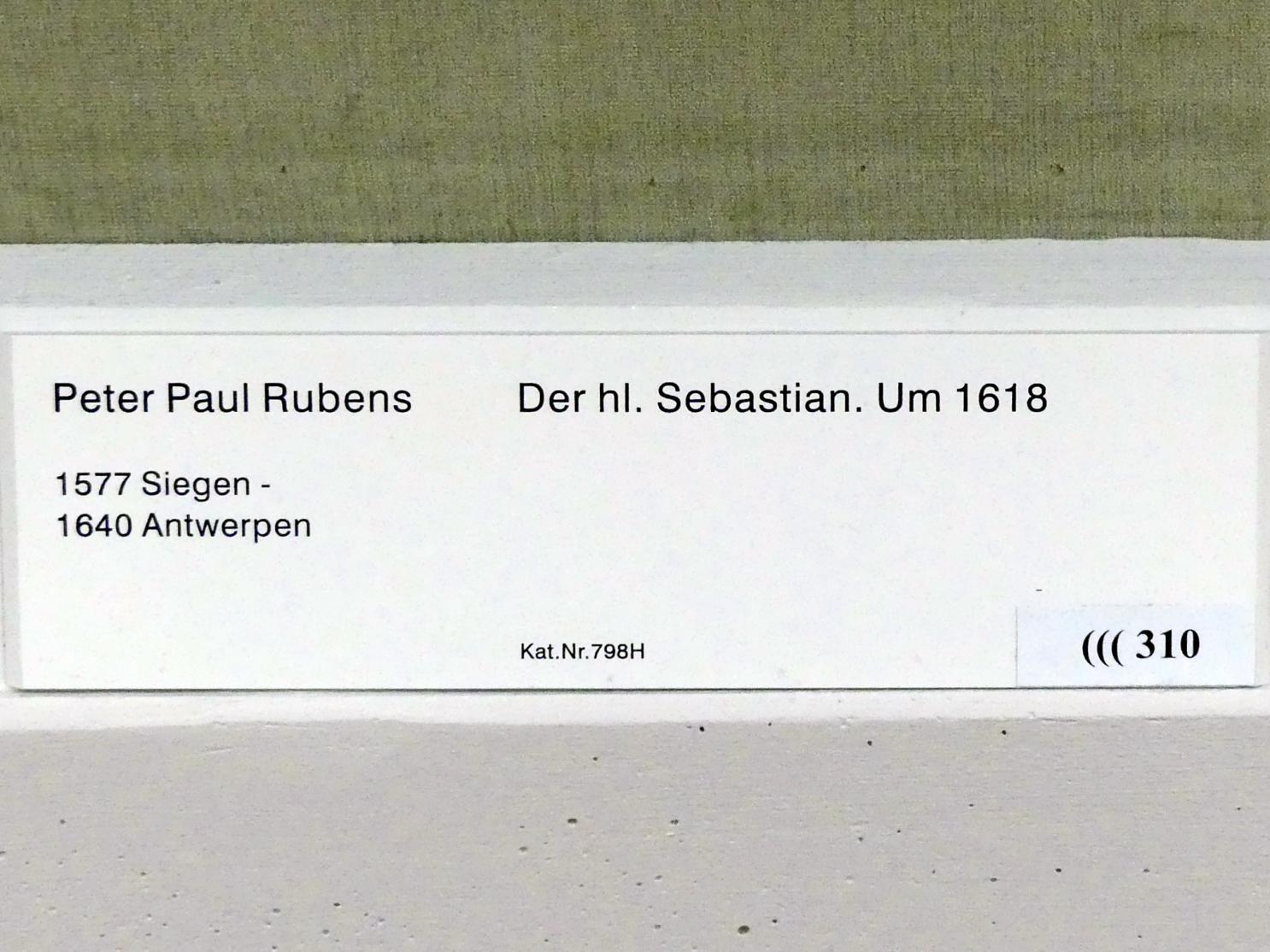Peter Paul Rubens: Der hl. Sebastian, um 1618, Bild 2/2